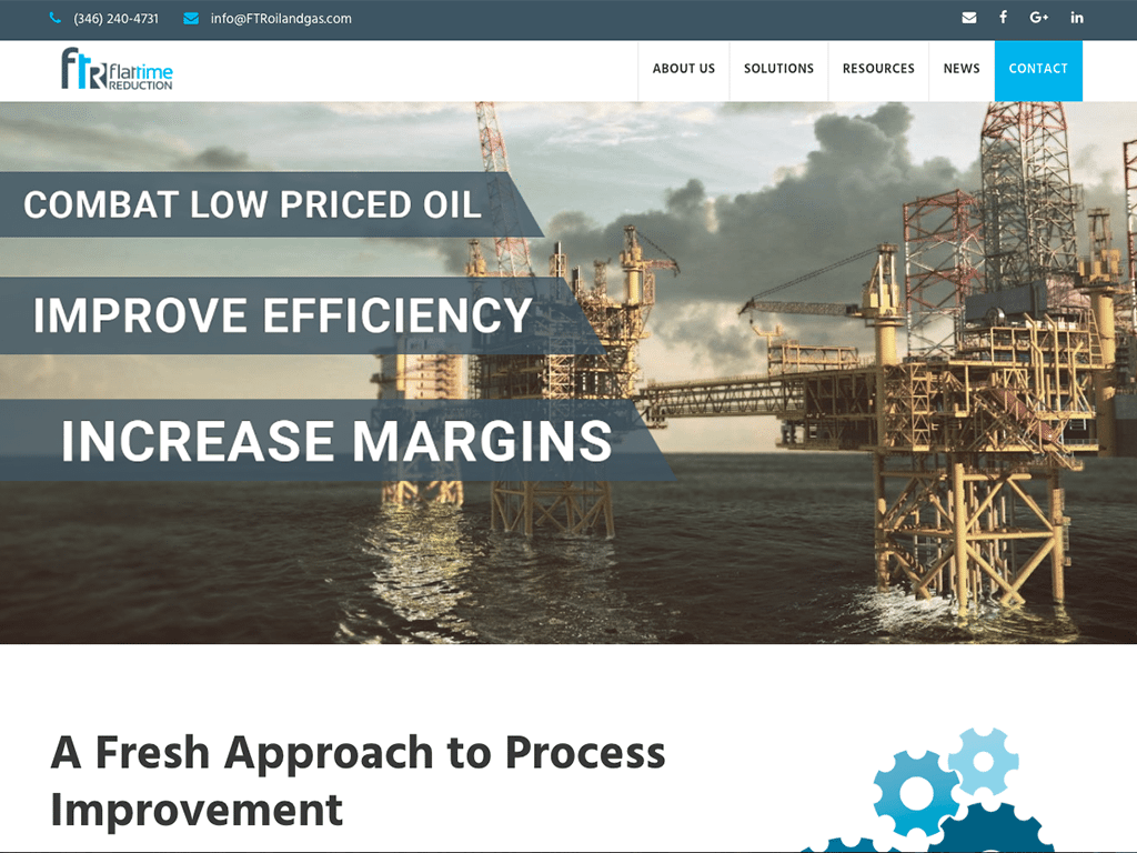 oil and gas web design houston